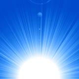 Błękitny słońce Zdjęcia Royalty Free