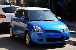 Błękitny samochód Fotografia Royalty Free