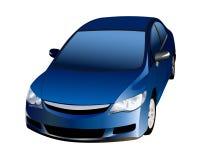 błękitny samochód Zdjęcia Stock