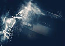 Błękitny Samochodowego obmycia pojęcie obrazy royalty free