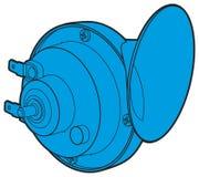 Błękitny samochodowego rogu znak Ilustracji
