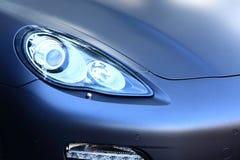 Błękitny Samochodowy abstrakt, Frontowy zderzak Fotografia Stock