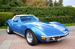 błękitny samochodowy klasyczny stary Obrazy Royalty Free
