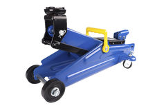Błękitny samochodowy Podłogowy Jack Zdjęcie Royalty Free