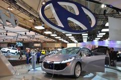 błękitny samochodowy pojęcie Hyundai Obraz Royalty Free