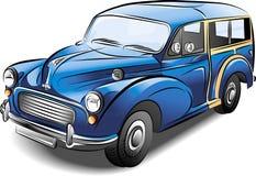 błękitny samochodowy retro wektor Fotografia Royalty Free