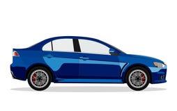błękitny samochodowy sedan ilustracja wektor
