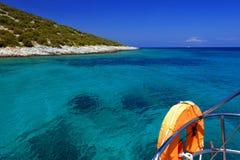 Błękitny Sediterranean morze Zdjęcia Royalty Free