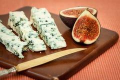 Błękitny ser i świeże figi Obraz Stock