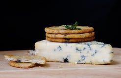błękitny sera krakers Obraz Royalty Free
