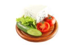 błękitny sera warzywa Obrazy Royalty Free