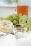 błękitny sera winogron wino Obrazy Royalty Free