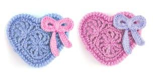 błękitny serc ilustracyjny miłości menchii symbolu wektor Zdjęcia Stock