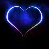 Błękitny serce Zdjęcia Royalty Free