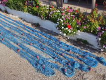 błękitny sieć rybacka Obrazy Royalty Free