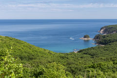 błękitny skał denny seascape nieba lato Fotografia Royalty Free