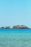 błękitny skał morza niebo Obraz Royalty Free
