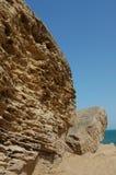 błękitny skały niebo zdjęcie stock