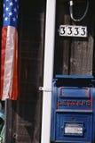 Błękitny Skrzynka pocztowa Zdjęcie Stock