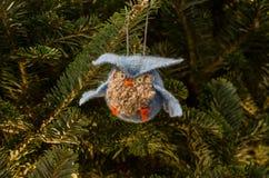 Błękitny sowa ornament Zdjęcia Stock