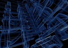 błękitny spalania silnika wewnętrzny promień x Obrazy Stock