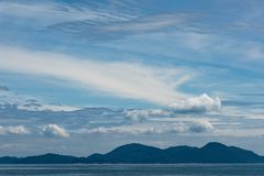 Błękitny spokojny seascape fotografia royalty free