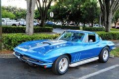 Błękitny sporta samochód Fotografia Stock