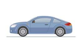 Błękitny sporta samochód na białym tle Obraz Royalty Free