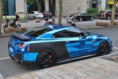 Błękitny sportscar Zdjęcie Royalty Free