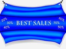 Błękitny sprzedaż plakat royalty ilustracja