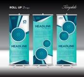 Błękitny Stacza się Up sztandaru szablonu wieloboka wektorowego ilustracyjnego backgro Zdjęcia Stock