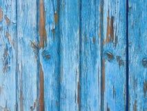 Błękitny stary drewniany tło Obrazy Royalty Free