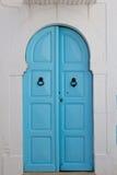 Błękitny stary drzwi Zdjęcie Royalty Free