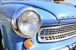 Błękitny stary zegaru samochód Zdjęcia Royalty Free