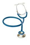 Błękitny stetoskop na bielu Fotografia Royalty Free