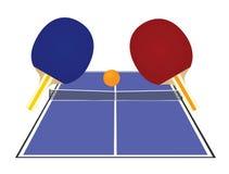 Błękitny stołowego tenisa pole z kantami ilustracja wektor