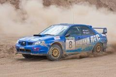Błękitny Subaru Impreza zdjęcie royalty free