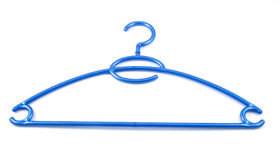 błękitny sukienny wieszak Zdjęcia Royalty Free