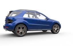 Błękitny SUV Zdjęcia Royalty Free