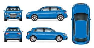 Błękitny SUV samochodu egzamin próbny up ilustracji