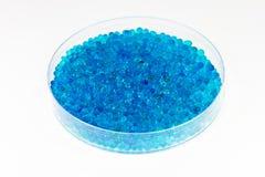 Błękitny sylikatowy gel Fotografia Stock