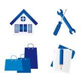 Błękitny symbole Zdjęcie Royalty Free