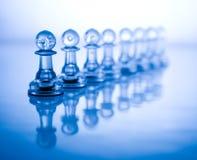 błękitny szachowy przejrzysty fotografia royalty free