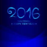Błękitny szczęśliwy nowy rok i Wesoło boże narodzenia zakrywamy powitanie Obrazy Stock