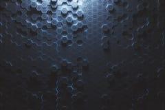 Błękitny sześciokąta tło Obraz Stock