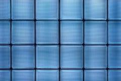błękitny szkła płytki ściana zdjęcie stock