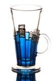 błękitny szkło Zdjęcia Stock