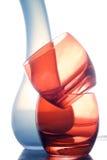 błękitny szkieł czerwieni dwa waza Zdjęcie Royalty Free