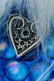 błękitny szkieł kierowy z kości słoniowej kształta biel Obrazy Royalty Free