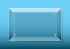 błękitny szklana plakieta Obraz Stock